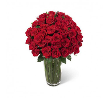 L'arrangement Luxueux de Roses Rouges